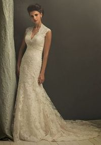 SEO COMMON KEYWORDS A-Line V-Neck Floor Length Attached Tulle/ Satin Beading/ Lace Wedding Dress Style C155