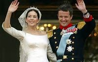 Crown Prince Frederik and now Crown Princess Mary of Denmark on their Wedding Day in May of 2004!