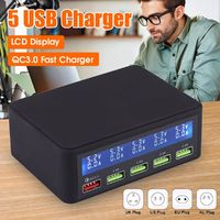 QC3.0 Quick Charge 3-Port USB Charger USB Charging Station Power Charger Adapter