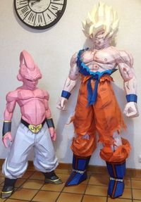 Kid Buu Life Size 1m30 by Paperwolvy Art, via Behance