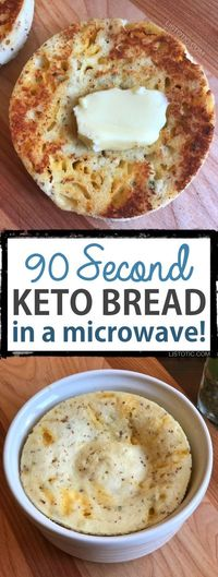 This Keto bread is quick, easy and low carb! The recipe calls for both almond flour and coconut flour (both gluten free) giving it the best texture and taste ye
