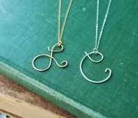 initial pendant necklace, initial pendant and initial necklaces.