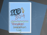 IEP & 504 Teacher Service Interaction Tracker   Remote Learning Log  IEP Service   30 students $4.97