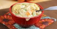 Have you ever wished you could have homemade chicken and dumplings in a snap? Well, now you can.A long, long time ago in the fall that I met my husband he expre