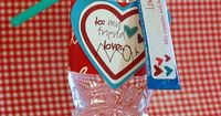 """Valentines Day love juice! Am I nerd that would rather do this for my kids class instead of all the sugar. You can even find all natural flavor packets! Call it """"love potion"""""""