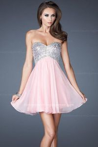 Short Sequin with Fully Sequin Bodice Pink Homecoming Dresses 2013