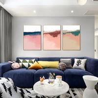 3 pieces Wall Art framed painting Abstract art pink acrylic paintings on canvas set of 3 wall art Original art extra Large wall art $163.53