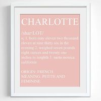 Dictionary Style Baby Name Print Custom by Printsiple on Etsy, $19.00