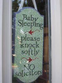 baby sleeping sign <3