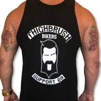 "THIGHBRUSH® BIKERS - ""SUPPORT 69"" - Men's Tank Top - Black and White"
