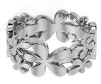 14K White gold Flower Wedding Band Ring Leaves Wedding band Branch band Celtic Ring Promise Band Ring Unique Wedding Gift $751.00