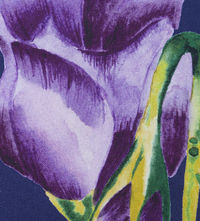 Appledorn Indigo Fabric  Tulips are one of the world's most popular flowers that's why we at Occipinti created a bespoke range of tulip fabric and wallpapers. With stunning colors, and bursting blooms our Appledorn design enhances any home. ...