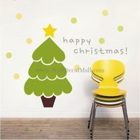 Cute Christmas Tree Wall Decals