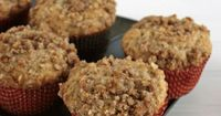These Coffeehouse Coffee Cake Muffins are so good, they have the streusel on the top and inside! These muffins are to die for! The entire muffin, not just the t