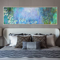 Claude Monet painting white Water lilies oil paintings on canvas impression art Wall art pictures Home Decor $99.00