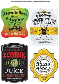 Halloween printables, labels