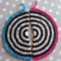 crochet potholder color scheme