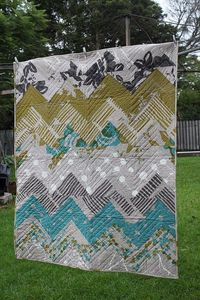 chevron pattern for quilt. Great for guest room. I just love everything about this