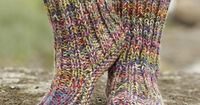 Fun and colourful slippers. Ribbed Confetti by DROPS Design. Free #knitting Pattern