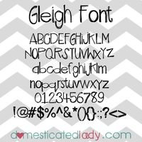Free hand written font, Gleigh, by Domesticated Lady