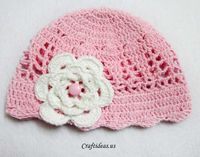 Crochet pink hat for spring - Craft Ideas - Crafts for Kids - HobbyCraft | Craft Ideas - Crafts for Kids - HobbyCraft