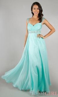2014 Aqua Cap Sleeves Dave And Johnny 8671 Prom Dress