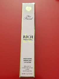 �Ÿ'‹�Ÿ'� Too Faced Rich Dazzling High Shine Sparkling Lip Gloss .25 Oz �� Authentic $17.95 �Ÿ'‹�Ÿ'�