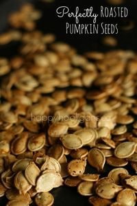Recipe for Perfectly Roasted Pumpkin Seeds. The perfect snack!