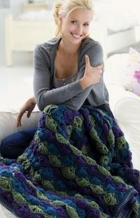 Twilight Shells Throw Crochet Pattern The classic shell design adapts to any room with your choice of color. Crochet it as shown, in colors to complement your room or use up your yarn stash and make It in many colors.