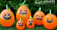 Halloween Pumpkin Balloons made with Cricut Explore -- Dimple Prints. #DesignSpaceStar Round 3