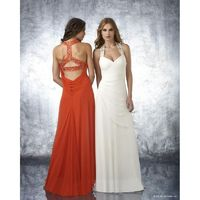 Shimmer by Bari Jay 59634 Ivory,Orange,Seafoam Dress - The Unique Prom Store