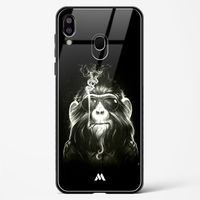 Biker Chimp Glass Case Phone Cover from Myxtur