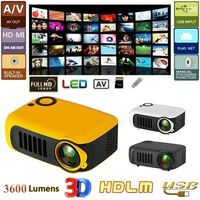 Mini Portable LCD Projector 1080P HD LED Projector High Power Speaker 1.67K Picture Color Home Theater