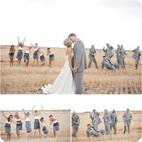 I love the full shot with the bridesmaids and groomsmen separate shots, and I can totally see groomsmen doing some poses like these guys