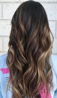 "Hair color idea for neutral brunettes �€"" ask for subtle and darker caramel highlights for a blended, sunkissed look. Color by Cami Sullivan. Filed under: Hair Co"