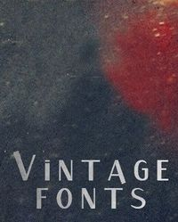 I love vintage fonts, this is a link to several fonts and other things.