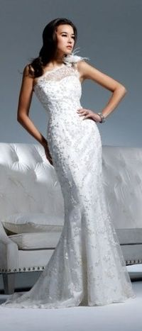 David Tutera dress - not the flower on the shoulder