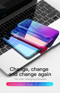 Baseus Protective Case For iPhone XS Max Gradient Glow Shockproof Soft TPU Back Cover