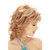 Stylish Sexy Lady Tilted Frisette Short Curly Hair High Temperature Wig $38.00