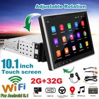 10.1 Inch 1Din for Android 8.1 Car Mutimedium MP5 Player Radio Stereo 2GB+32GB 4 Core GPS Wifi Rotation Adjustable Touch Screen FM AM