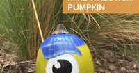 Create this pumpkin inspired by Mike Wazowski's days at Monsters University, and show some school spirit with this easy-to-make felt pennant.