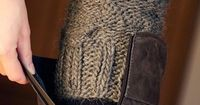 In worsted or chunky, this would be cozy!