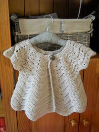 Sooo cute! Ravelry: Crochet Baby Set #106 pattern by Nell Armstrong