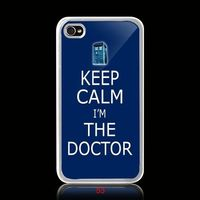 Tardis doctor who British Keep Calm And Carry On iPhone 4 4s case, $16.99