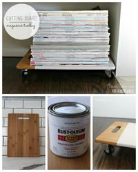 Upcycled Magazine Trolley | 4men1lady on