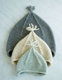 Laura's Loop: Garter Ear Flap Hat - The Purl Bee