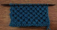 How to Knit the Knotted Openwork Stitch