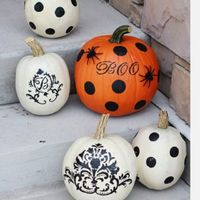 I like the idea of painting pumpkins
