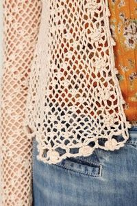 Outstanding Crochet: Freee people. Little summer jacket, look at that!!