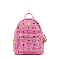 MCM Mini Stark Side Odeon Studs Backpack In Pink